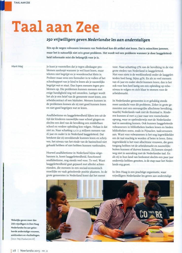TaalaanZee_Neerlandia_taalcoachMaritMaij_blz1_062015
